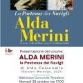 Alla Teresiana la presentazione del volume 'ALDA MERINI - la Poetessa dei Navigli'. Martedì 26 ottob...